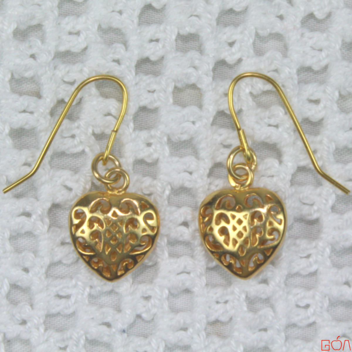 Boucles d'oreilles assorties au collier colombe -plat-RRG-